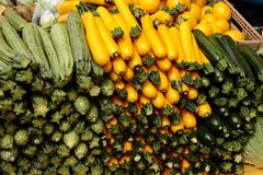 Zucchini vegetables Royalty Free Stock Photos
