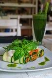 Zucchini verde sano Rolls Immagine Stock Libera da Diritti