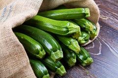 Zucchini w worku Zdjęcie Stock