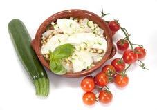 Zucchini warzywa i parmesan Zdjęcia Stock