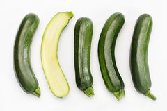 Zucchini on white Stock Image