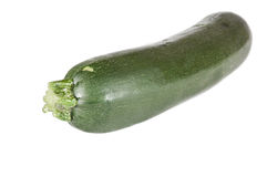 Zucchini on white background. Zucchini against a white background Stock Photography