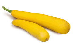 Zucchini on white background Stock Photo