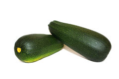 Zucchini on a white background Stock Image