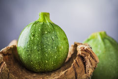 Zucchini on wood Royalty Free Stock Photos