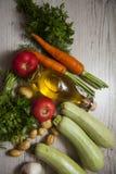 Zucchini on wood Stock Image