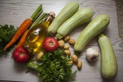 Zucchini on wood Royalty Free Stock Photo