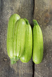 Zucchini. On a wooden table Royalty Free Stock Photography