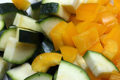Zucchini and yellow peppers Royalty Free Stock Images