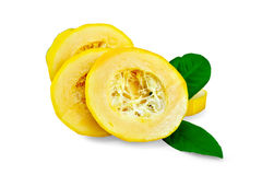 Zucchini yellow slices Stock Images