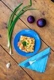 Zucchini z jajkiem i serem Zdjęcie Royalty Free