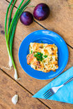 Zucchini z jajkiem i serem Zdjęcia Stock