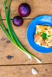 Zucchini z jajkiem i serem Obrazy Royalty Free