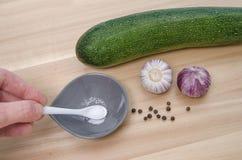 Zucchini z pikantność Obrazy Stock