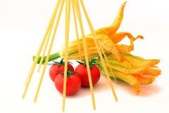 Zucchiniblommor Arkivbild