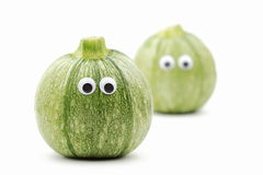 Zucchinigesicht stockfoto