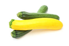 Zucchiniin a white background Stock Photography