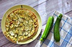Zucchinipaj Royaltyfri Foto