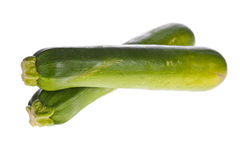 Zucchinis or courgettes isolated Royalty Free Stock Photos