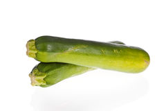 Zucchinis or courgettes isolated Royalty Free Stock Photography