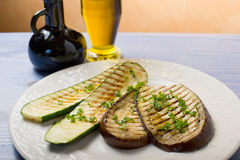 Zucchinis and eggplants grilled Royalty Free Stock Image
