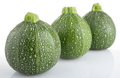 Zucchinis isolated Stock Images