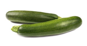 Zucchinis isolated Royalty Free Stock Photography