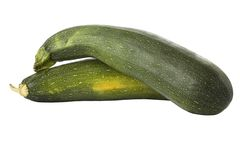 Zucchinis ou courgettes maduros imagens de stock royalty free