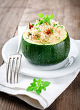 Zucchinis the stuffed Couscous Royalty Free Stock Image
