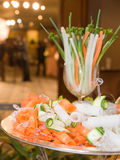 Zucchinisallad med morötter Royaltyfria Bilder