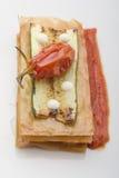 Zucchinisandwich Stockfotografie