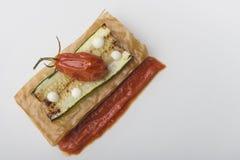 Zucchinisandwich Lizenzfreie Stockfotos