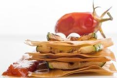 Zucchinisandwich Lizenzfreies Stockbild