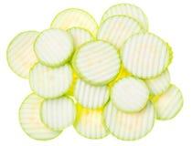 Zucchinizucchini på vit bakgrund Royaltyfria Foton
