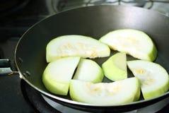 Zucchino affettato Fotografie Stock