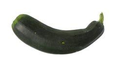 Zucchino verde isolato su bianco Fotografia Stock