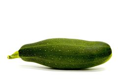 Zuccini. With shadow on white background Stock Image