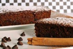 Zuchinnibrood van de chocolade stock fotografie