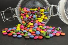 Zuckerüberzogene Süßigkeit Stockfotos