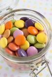Zuckerüberzogene Süßigkeit oder -bonbons Lizenzfreies Stockfoto