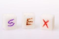 Zucker in der Schale Stockfotos