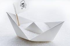 Zucker in einem Boot Lizenzfreies Stockfoto