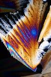 Zucker in polarisiertem Licht Stockfotos