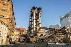 Zucker-Raffinerie Stockbild