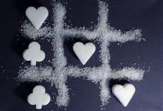 Zucker - süßes Spiel für zwei Stockfotos