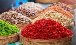 Zucker und Honig konservierten rotes Datum Stockfotos