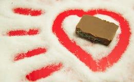 Zucker und Schokolade Stockfotos