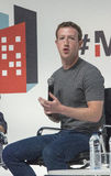 Zuckerberg 008. Mark Zuckerberg, the CEO and founder of facebook company, seen at a mobile congress in Barcelona, Spain Stock Images