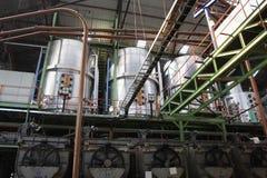 Zuckerfabrikmaschinerie Stockbild