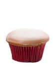 Zuckerglasmuffin lokalisiert auf weißem Hintergrund Stockfotografie